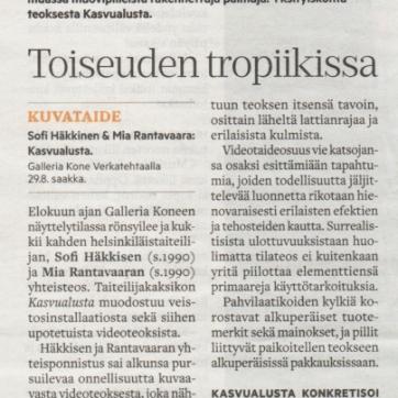 Hämeenlinnan Sanomat 15.8.2017