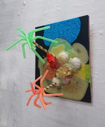 Palmusaari Dreamland, 2016 Acrylics, drinking straws, mediums, glues........ on MDF